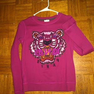 Pink Kenzo tiger face sweater